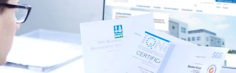 Certificates   Baumer