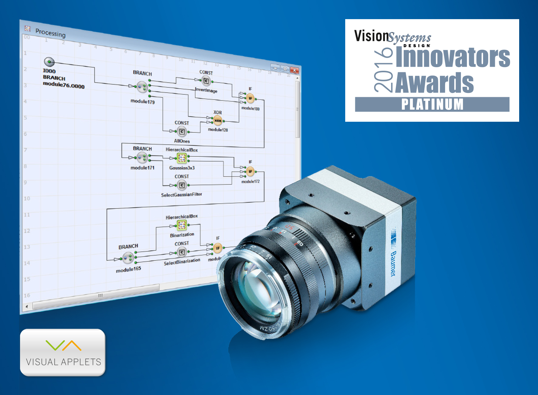 Baumer LX VisualApplets industrial cameras honored with a Platinum