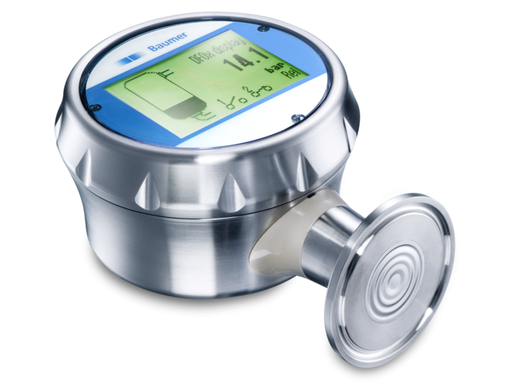 CombiPress – Pressure and continuous level measurement – PFMH – Hydrostatic level sensor with hygienic connection and touch screen – Pressure sensor with hygienic connection and touch screen – Pressure sensor with flush clamping connection and touch screen