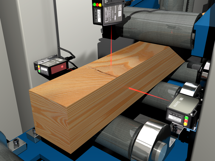 Dimensional control of wooden beams