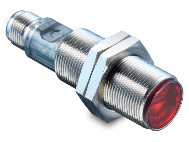 Cylindrical M18 sensors – M18 industrial standard – Light barriers without reflector in cylindrical M18 standard housing