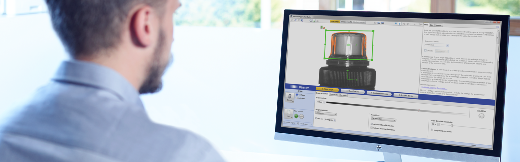 Baumer software for industrial cameras and vision sensors – VeriSens Application Suite