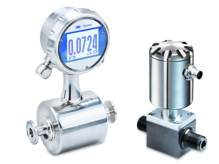 Electromagnetic flow meters for volumetric flow measurement