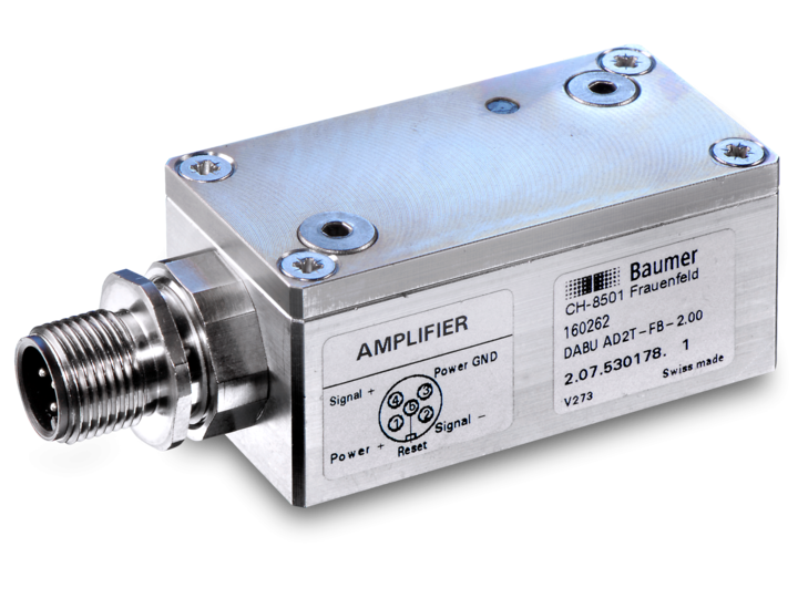 Bridge Amplifiers – DABI AD2T-FB-1.00 – DABU AD2T-FB-1.00 – Bridge amplifiers for force sensors in a rugged aluminium housing  – Bridge amplifiers for measuring rings in a rugged aluminium housing