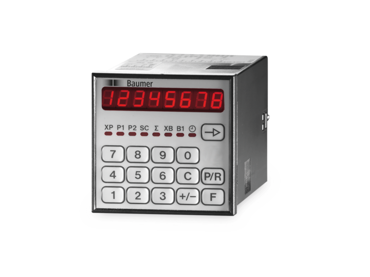Electronic preset counters and multifunctional counters