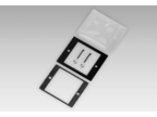 Adapter and front plate – Front panel with transparent protective cover, for socket box 50 x 50 mm (Z 100.02A)