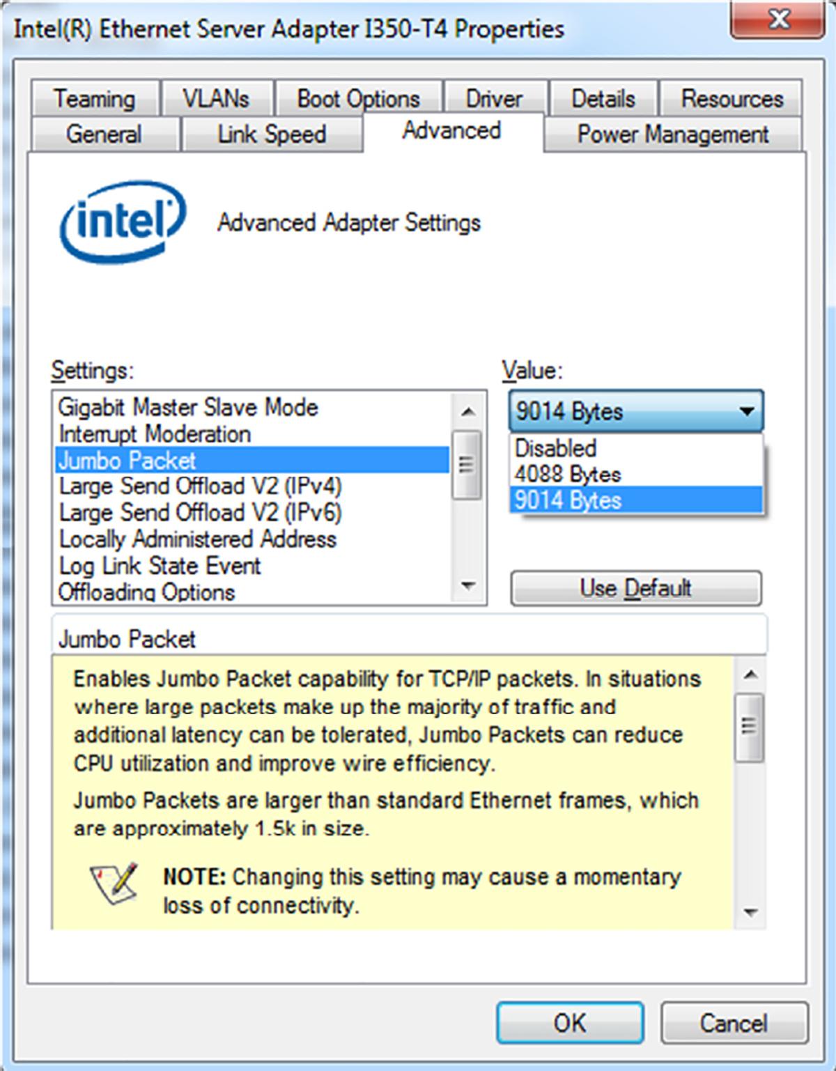 GigE adapter settings | Baumer